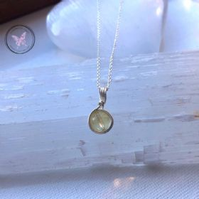 Citrine Sterling Silver Wire Wrapped Pendant